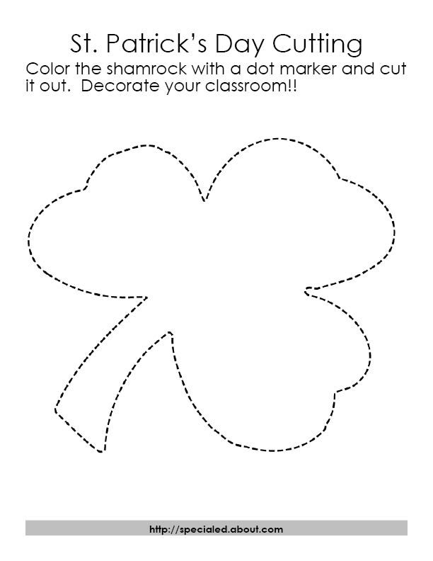 Art Activities for St Patricks Day with Free Printables – Shamrock Template