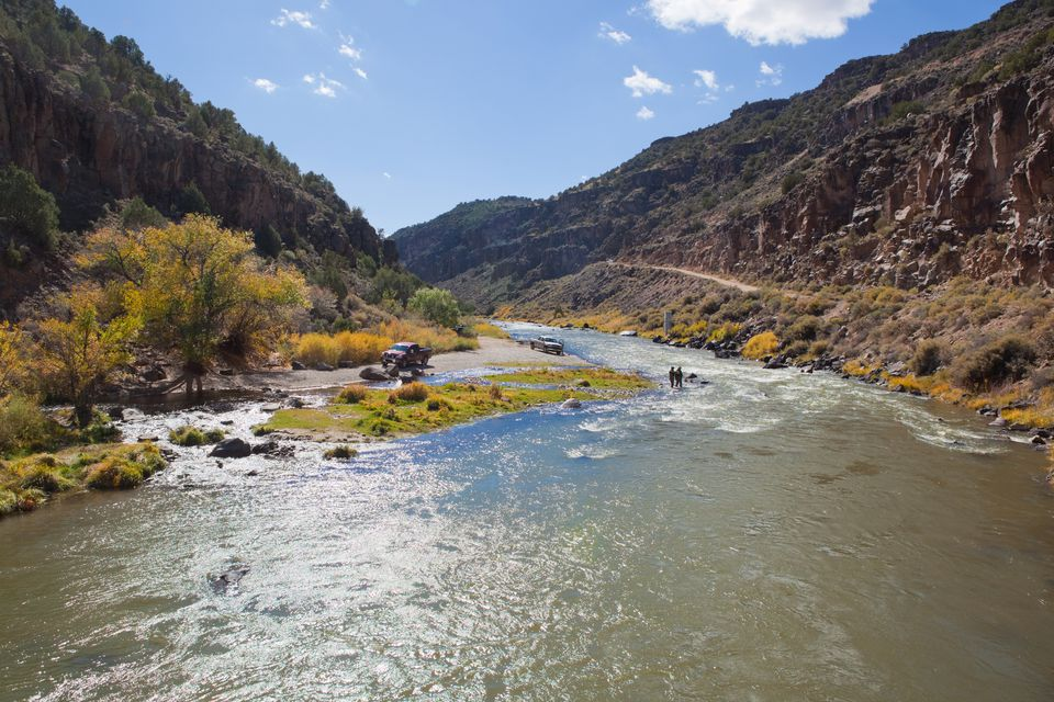 A scenic perspective in the Rio Grande National Park.