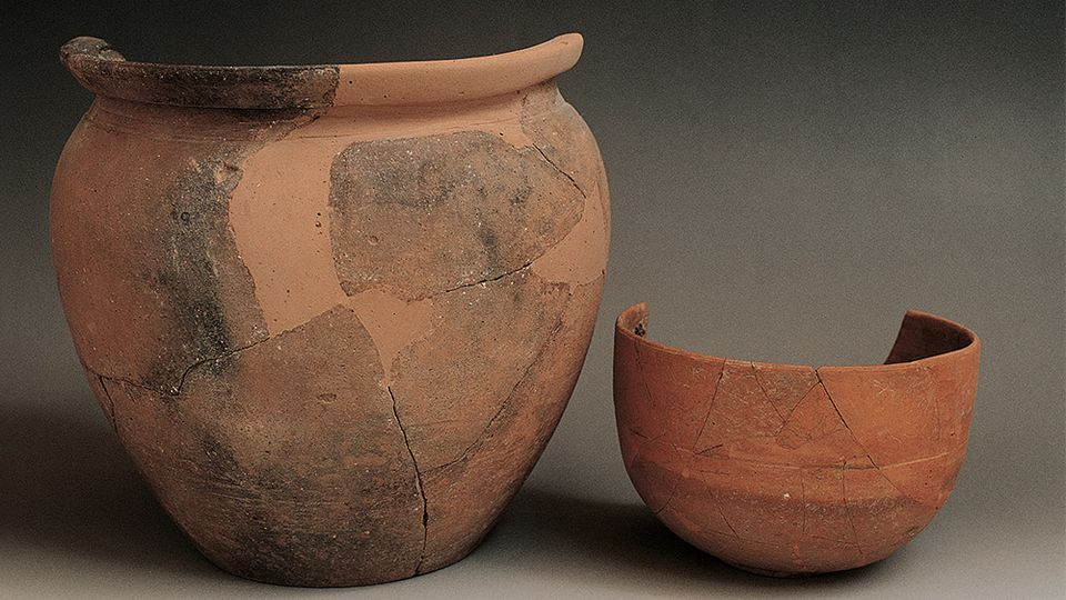 Examples of ancient terra sigillata from a Roman villa