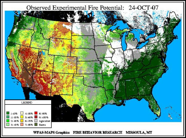 Current National Wildfire Maps And Conditions - Us wildfire map