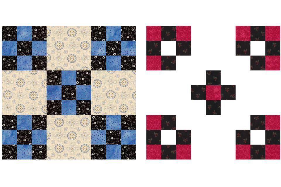 Double Nine Patch Quilt Blocks