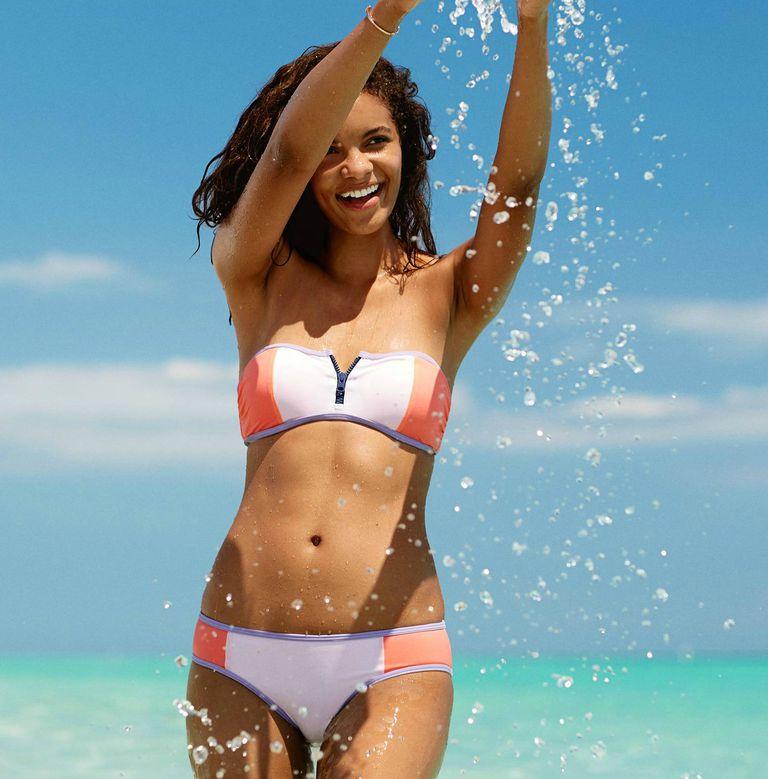Aerie Zipper Bandeau Bikini Top & Bottom