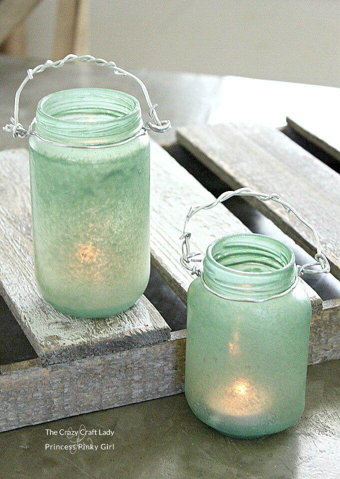 sea glass lanterns