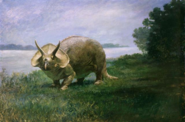 a very early depiction of triceratops charles r knight