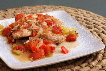 Savory Pork Chops With Tomatoes And Garlic