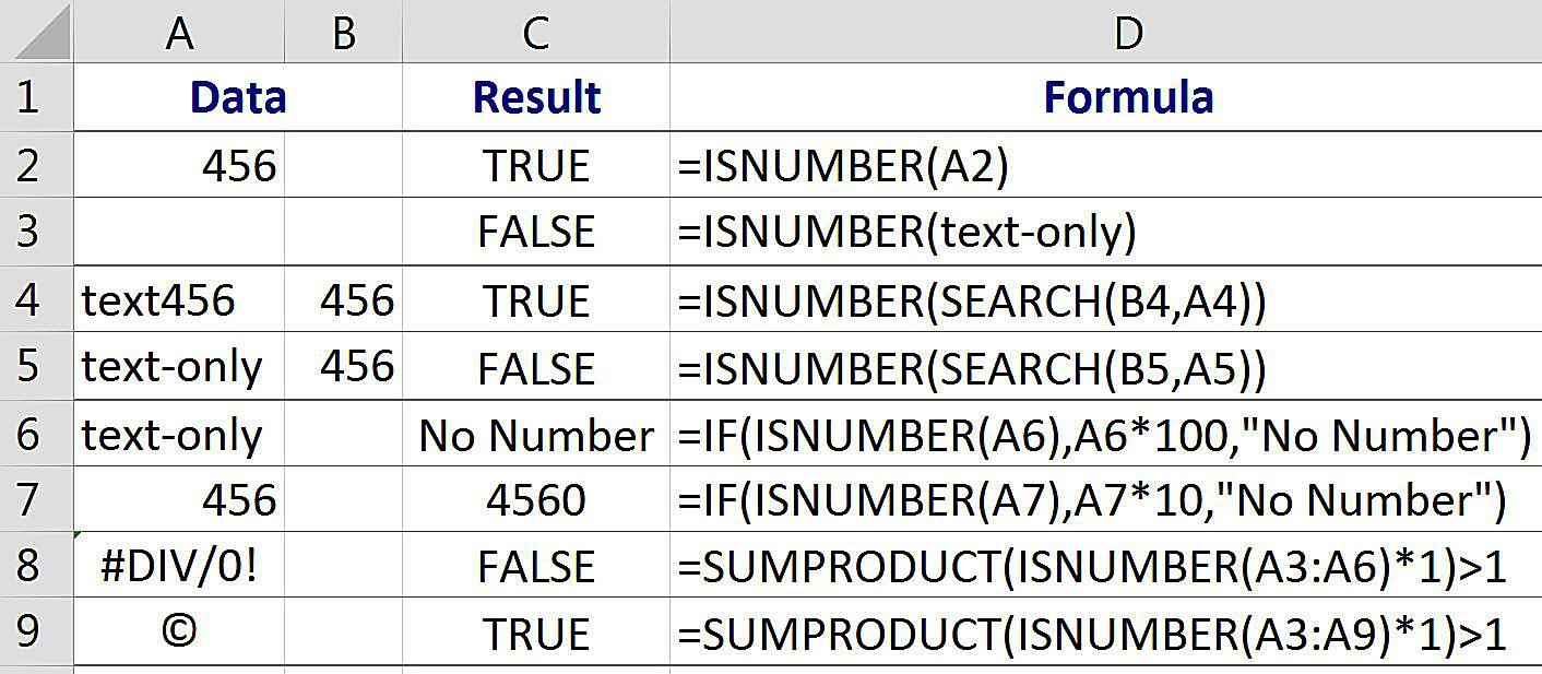 Excel isnumber function to find cells with numbers biocorpaavc Gallery