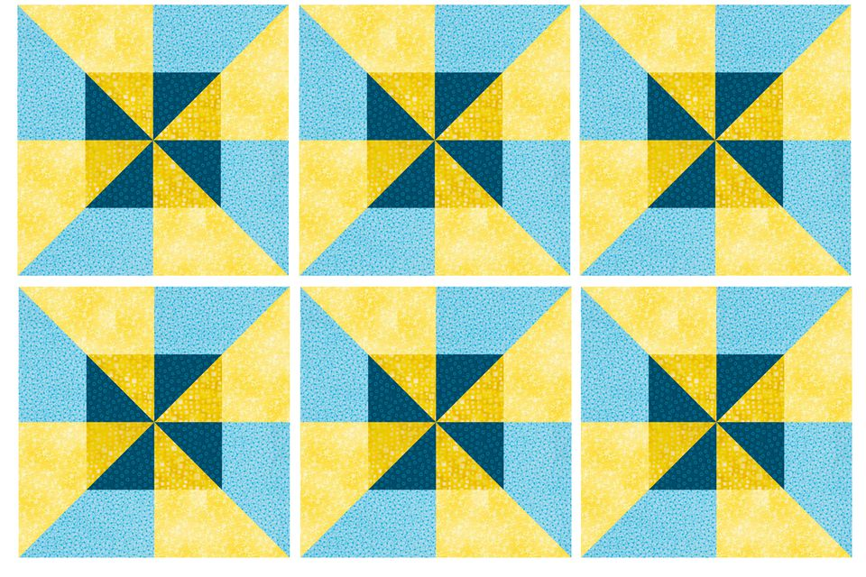 Double Pinwheel Quilt Block Pattern