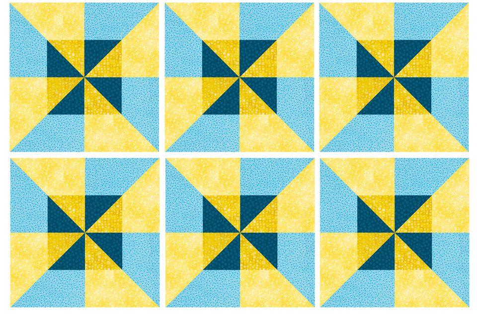 Easy Double Pinwheel Quilt Block Pattern : double pinwheel quilt - Adamdwight.com