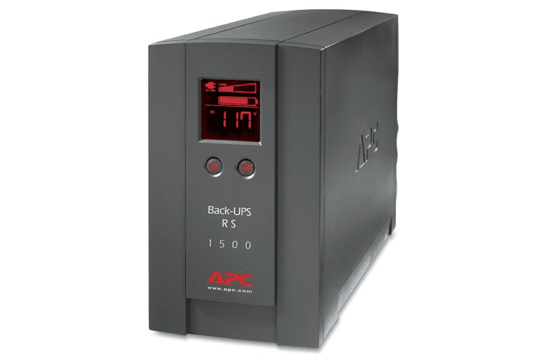 Picture of an APC Back-UPS RS 1500VA LCD 120V Battery Backup