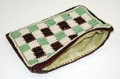 Checkered Crochet Pouch