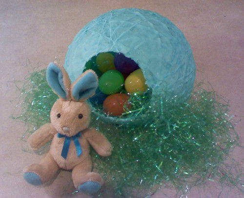 You can crystallize sugar onto string to make extra-special Easter eggs.