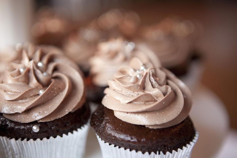 Chocolate Cupcakes at Wedding, Toronto, Ontario, Canada