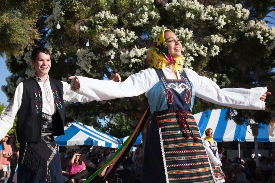 Greek Dancers at the Valley Greek Festival in Northridge, Los Angeles, CA