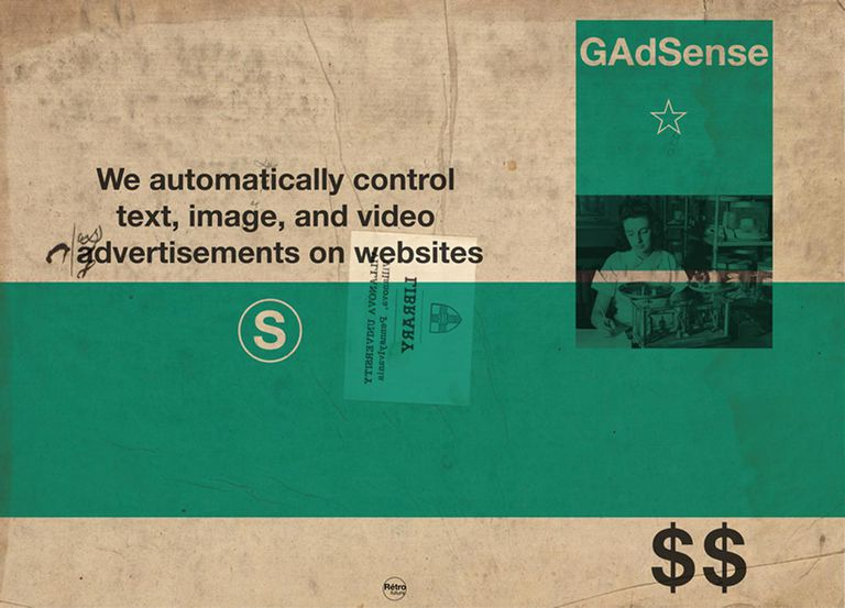 Google adsense We automatically control text, image, and video advertisements on websites.