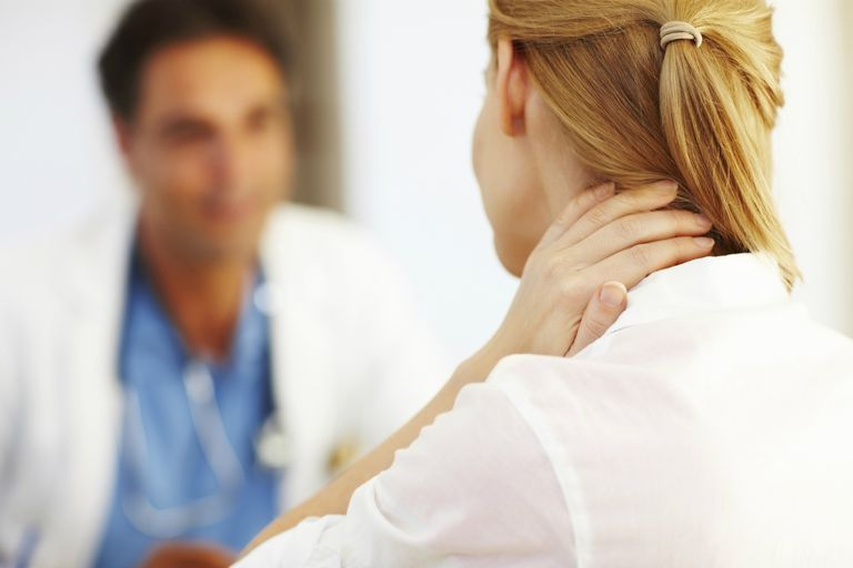 Patient discussing problems with doctor