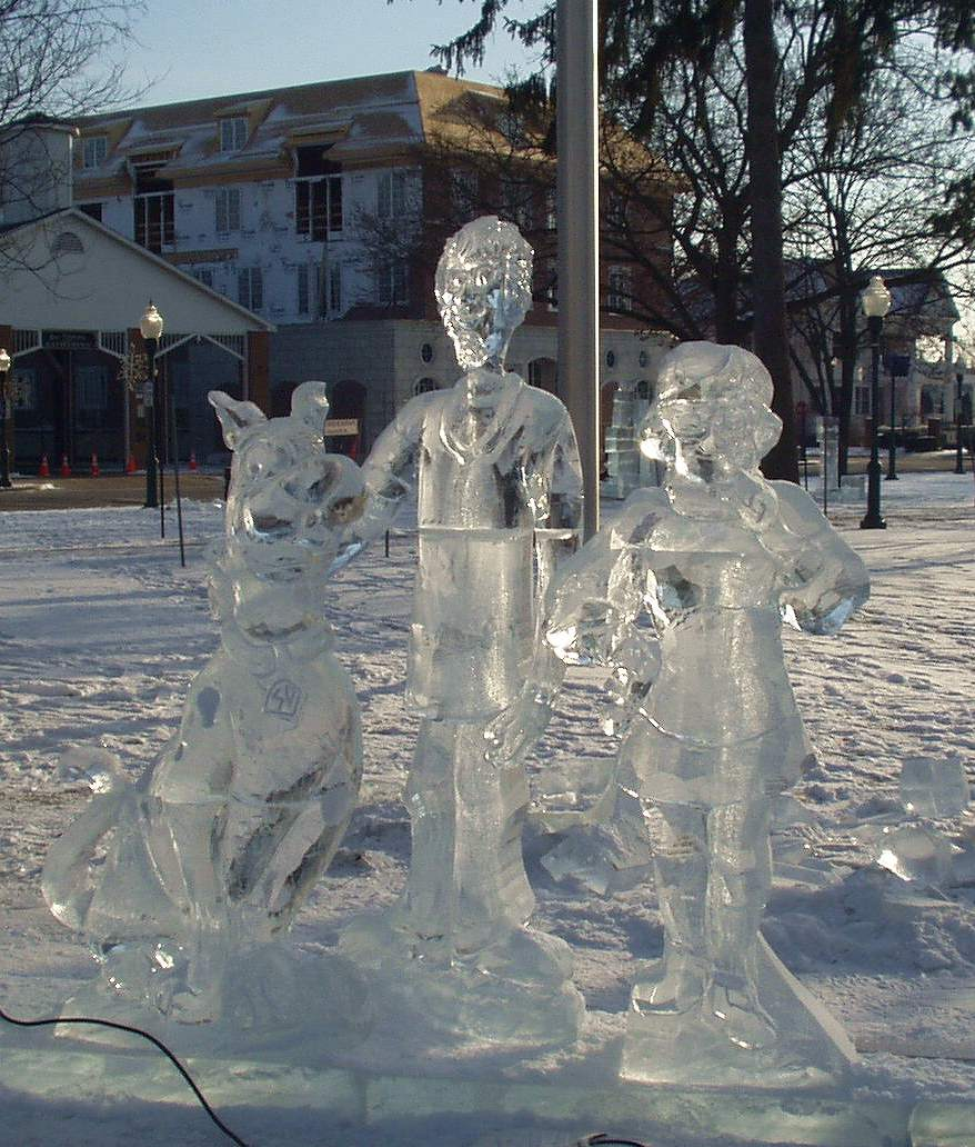 The Scooby Gang at the Plymouth Ice Festival in 2008