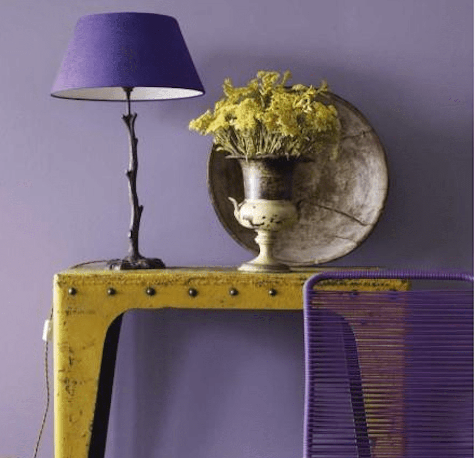 feng shui purple color use