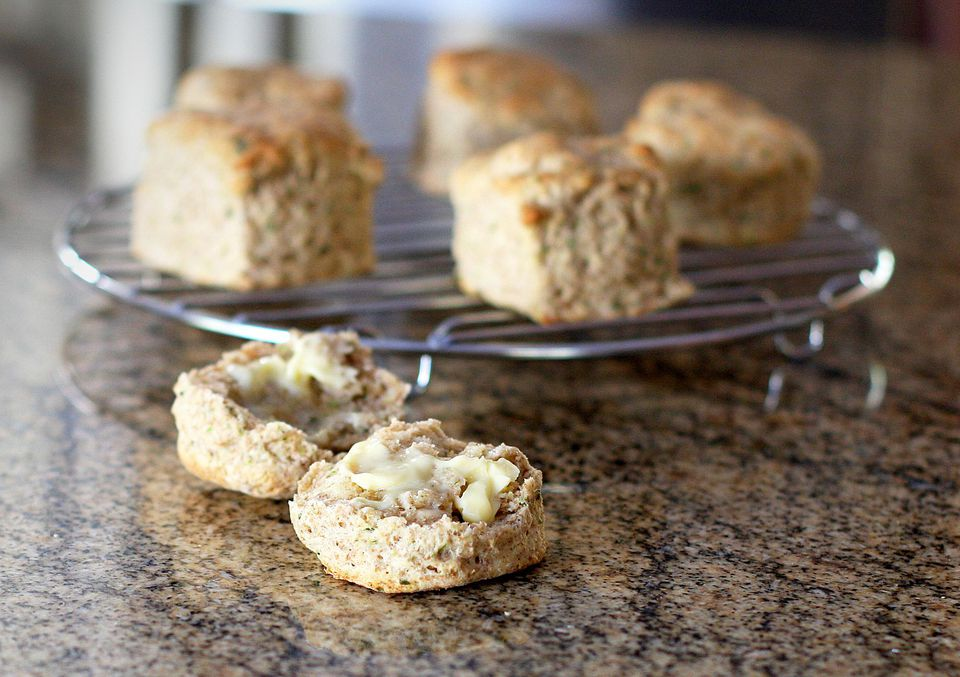 Whole Wheat Biscuits With Green Onion