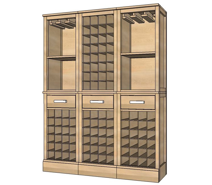 New Tall Bar Cabinet Modern