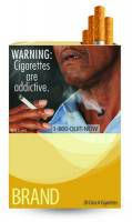 One of the FDA's cigarette warning labels depicting the negative health consequences of smoking.