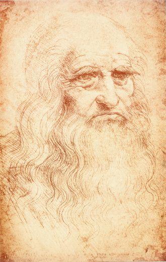 Leonardo Da Vinci. Leonardo da Vinci 1452-11519, selfportrait ca. 1515. Biblioteca Reale, Torino Italy