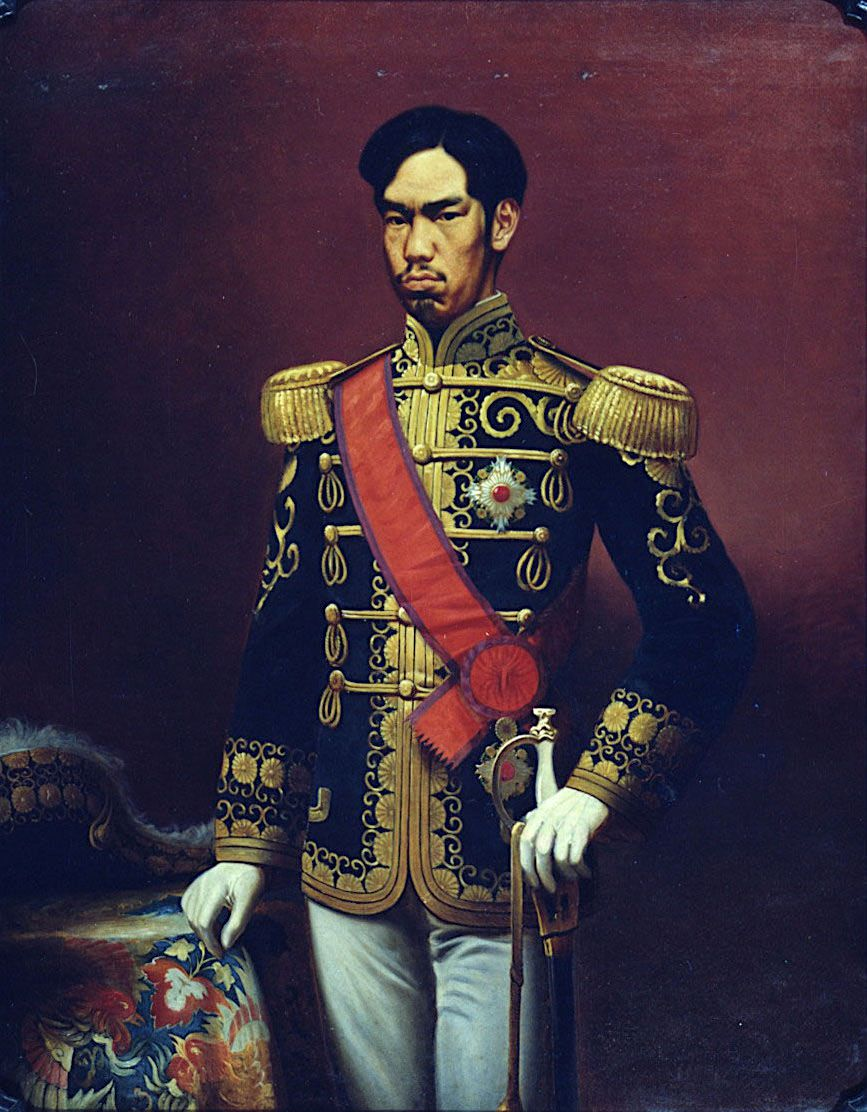 meiji period With emperor meiji's ascension to the throne in 1867, japan theoretically restored power to the emperor, but because he was only 15 years old he had little governing power instead, the power rested with the new government consisting of a small, close-knit cabinet of advisers.