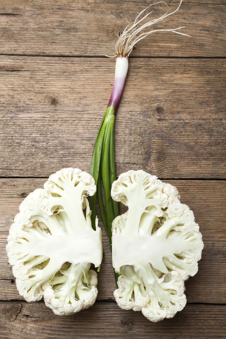 cauliflower shaped to look like lungs