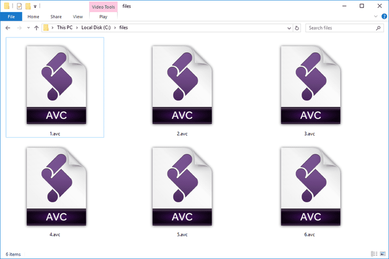 AVC Files