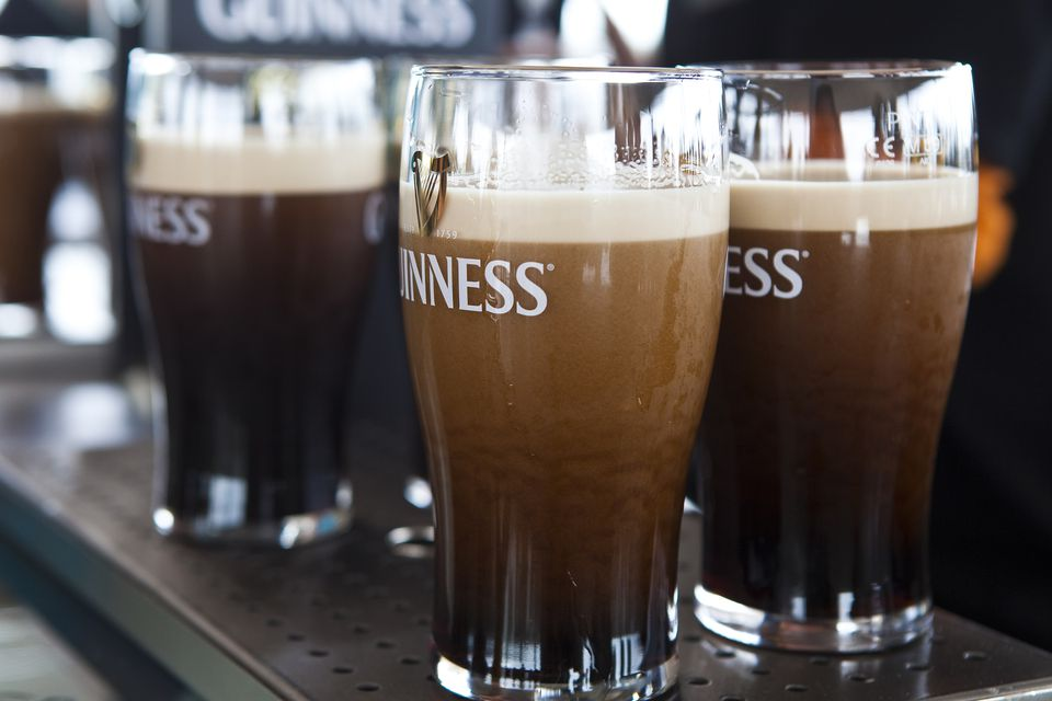 Pints of Guinness at Gravity Bar at Guinness Storehouse