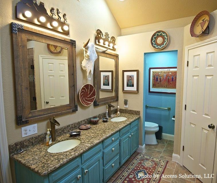 14 bathrooms with double vanities Southwestern style bathroom vanities