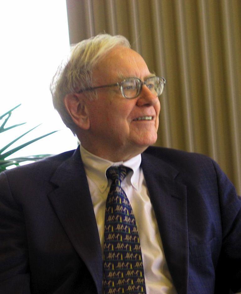 Warren Buffett speaking to students at Kansas University School of Business