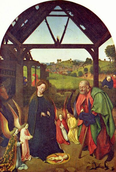 Nativity of Jesus by Christus Petrus c. 1445-1450 at the National Gallery of Art.