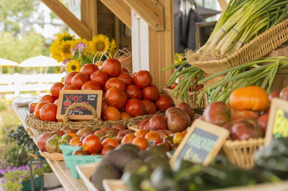 Produce at farmers market