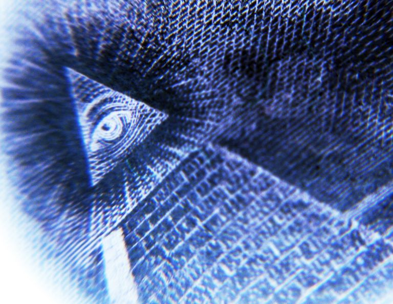 All-Seeing Eye of God on American dollar