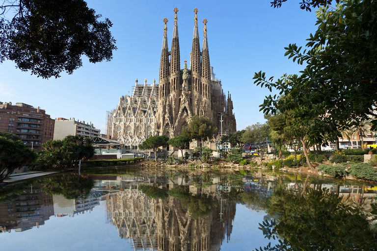 La Sagrada Familia by Antoni Gaudí in Barcelona, Spain