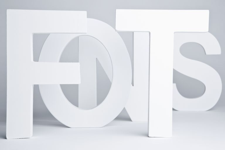 White block letters spelling out FONTS