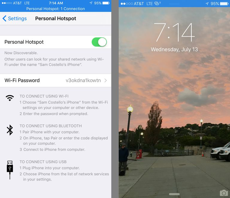 Connect your iPhone and iPad with Personal Hotspot