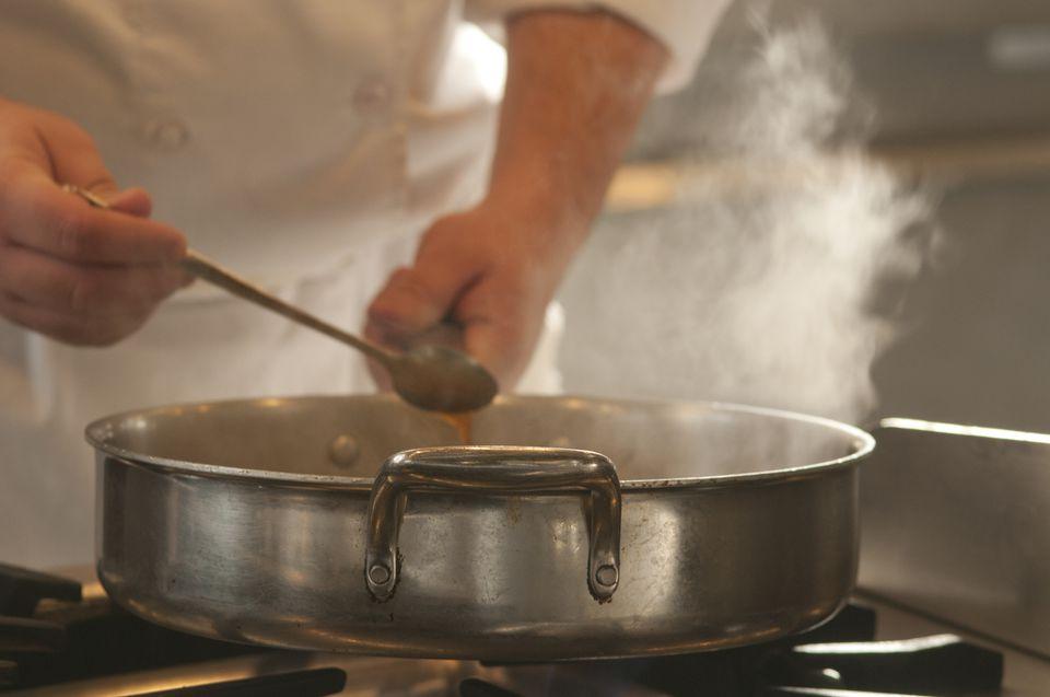 Reducing sause-steam