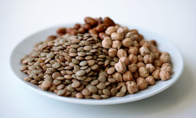 bowl of mixed legumes