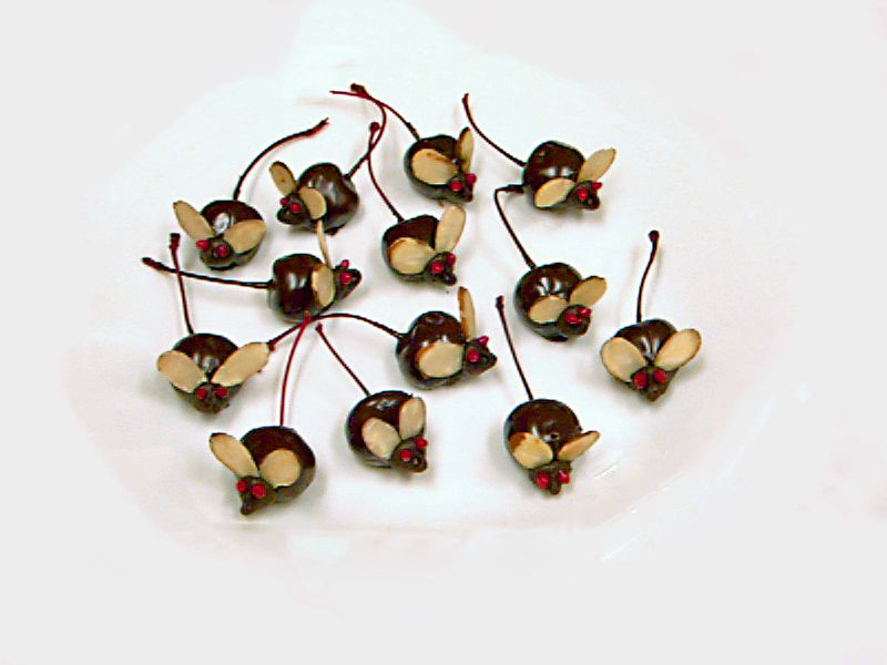 chocolate cherry mice recipe, halloween candy, receipts