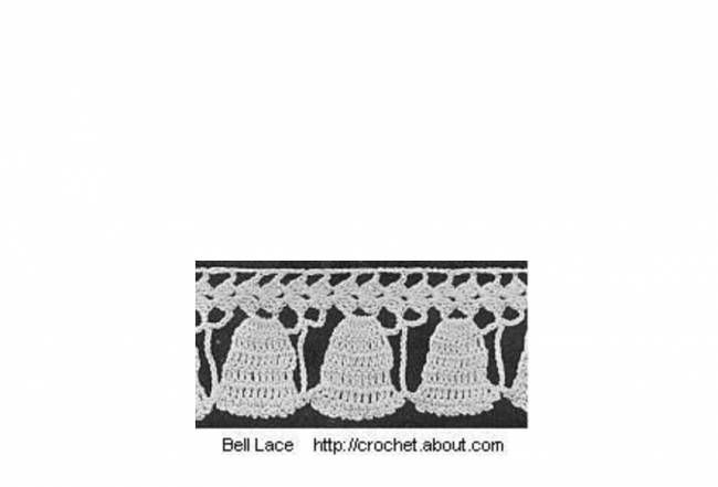 How to Crochet Bell Lace Edging