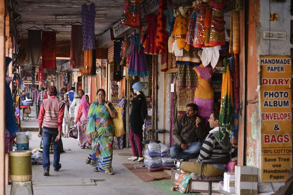Market in Jaipur.