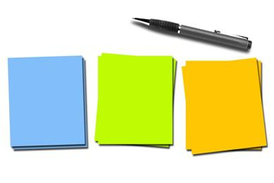 pen next to three different pieces of paper in cognitive training