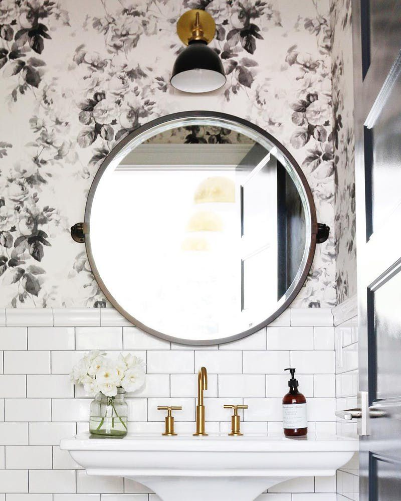16 beautiful bathrooms with subway tile subway tile and wallpaper dailygadgetfo Choice Image
