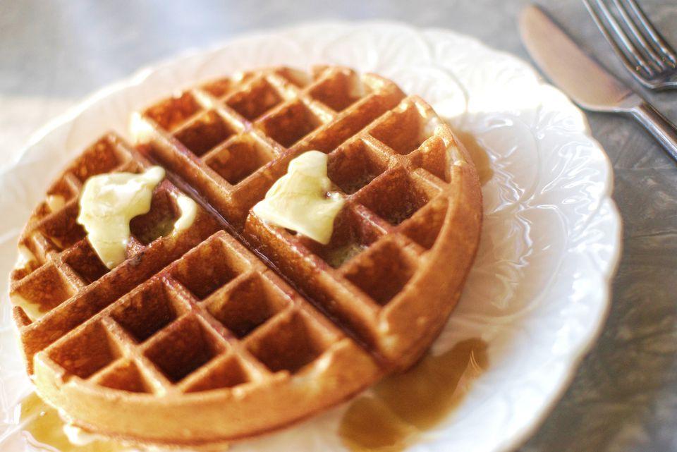 Fluffy waffles with beaten egg whites