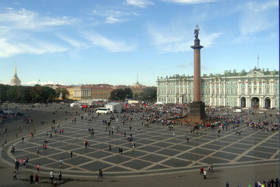 Hermitage Museum and Palace Square in St. Petersburg, Russia