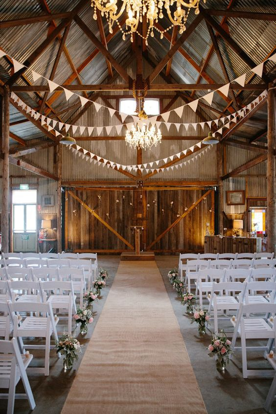 21 barn wedding ideas for your big day barn wedding with flags junglespirit Images