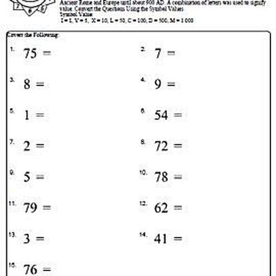 Grammar Activity Worksheets Pdf Roman Numeral Worksheets With Answers Combinations And Permutations Worksheet Pdf with How To Read A Weather Map Worksheet Excel Numbers To Roman Numeral Worksheet  Of  Baby Shower Games Free Printable Worksheets Pdf