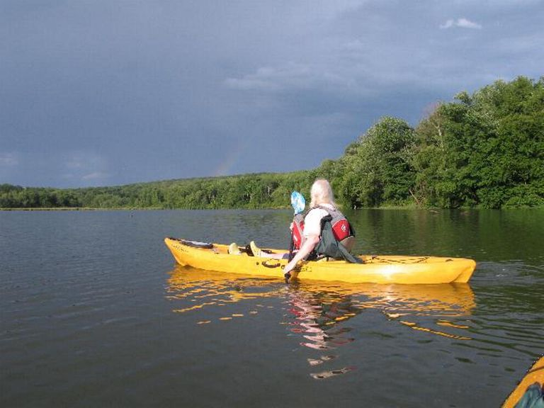 Kayaking on Ford's Lake, 5 miles from Clarks Summit University