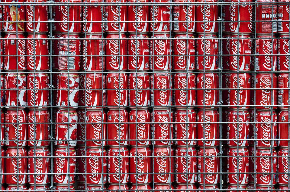 Coca Cola Can Gabion Wall